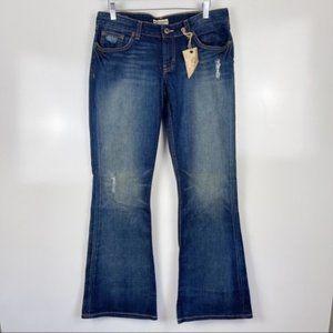 NEW BKE Stardust Stretch Flare Jeans Sz 31x 31.5